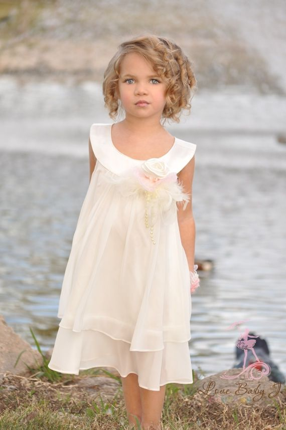 Vintage flower girl dress beach wedding flower girls for Beach wedding flower girl dresses