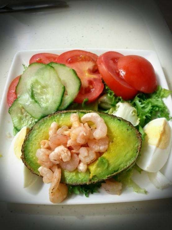 Shrimp Stuffed Avocado   Foodie   Pinterest