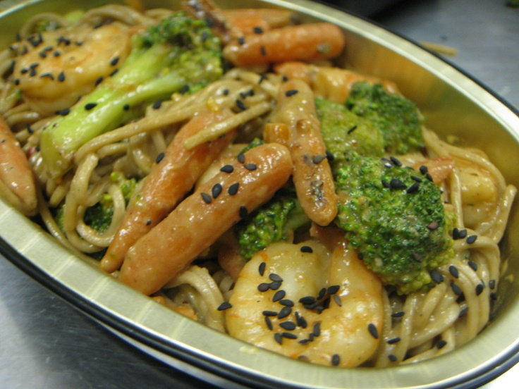 ... Coconut Sauce with Broccoli & Carrots over Soba Noodles...Gluten-Free