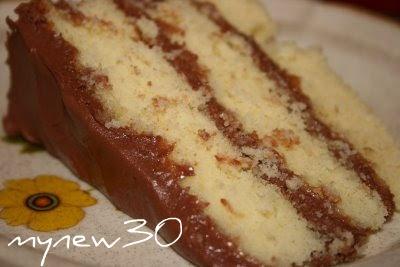 Deep South Dish: Basic 1-2-3-4 Yellow Birthday Cake with Chocolate ...