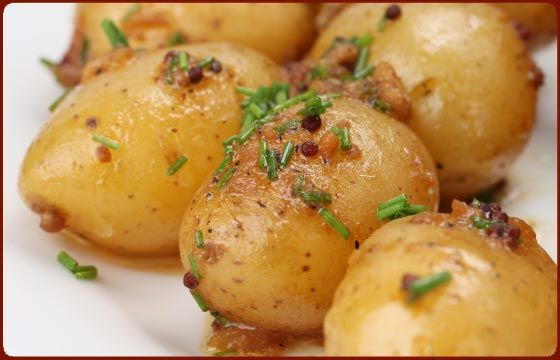 Roasted New Potatoes with Mustard Seeds and Chives - Traeger Grill ...