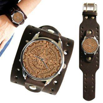часы с широким кожаным ремешком мужские купить