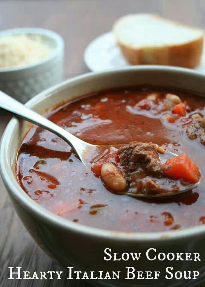 Slowcooker Hearty Italian Beef Soup | Soup & Salad | Pinterest