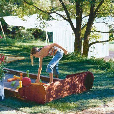 good ideas for you diy backyard bowling alley