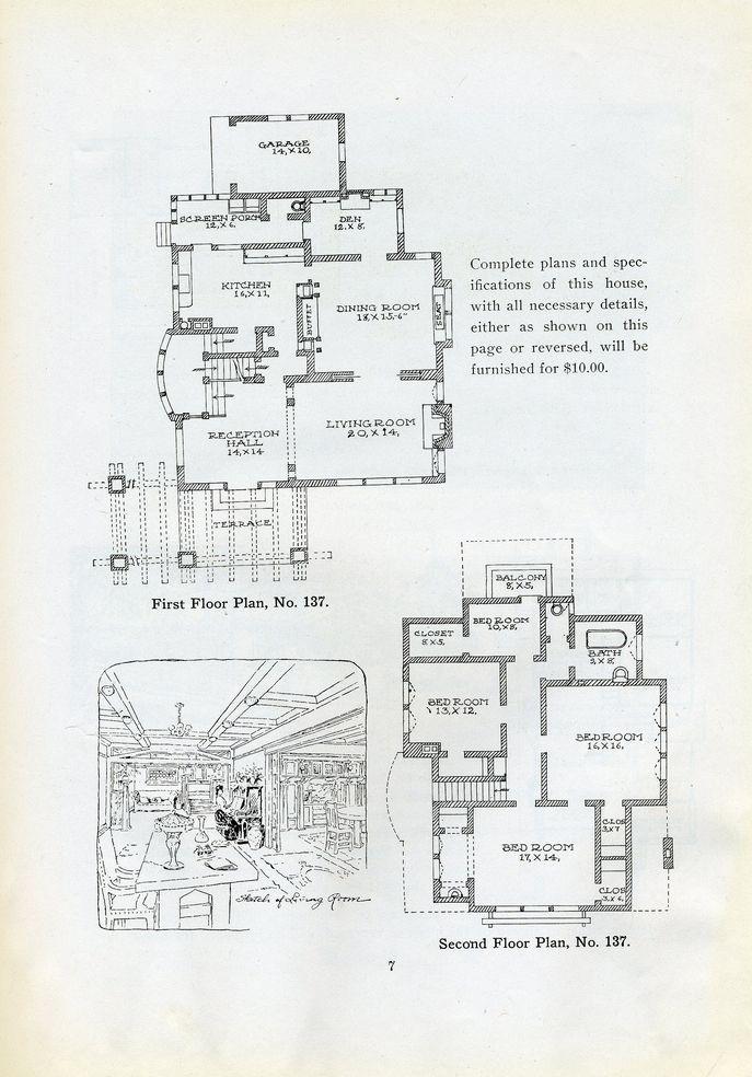 Vintage craftsman house plan house plans pinterest for Vintage craftsman house plans