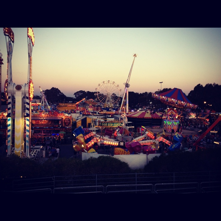 Perth Royal Show - taken from the chair lift as the sun was setting