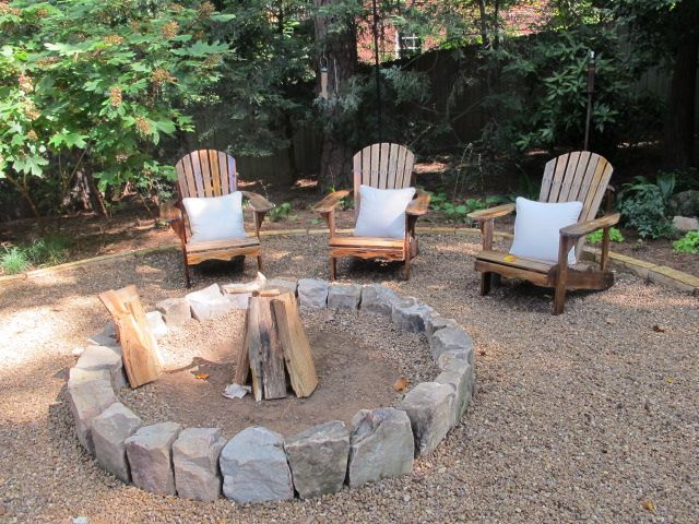 pea gravel around fire pit patio ideas pinterest
