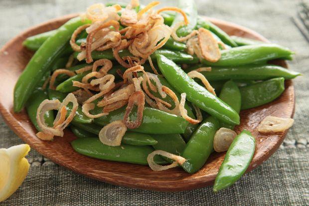 Snap Peas with Crispy Shallots   Recipe