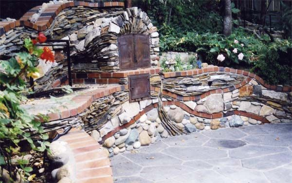 old stone brick gardens | BASS LAKE (CENTRAL SIERRA EAST OF FRESNO)