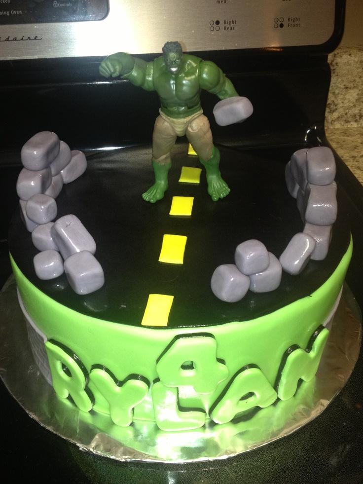 Incredible Hulk Cake Design : Incredible Hulk Birthday Cake Hulk party Pinterest
