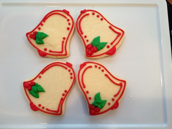 Bell cookies for christmas frosted bakery by lena pinterest