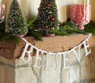 Believe Christmas garland from Pottery Barn.. easy diy - and quill the letters