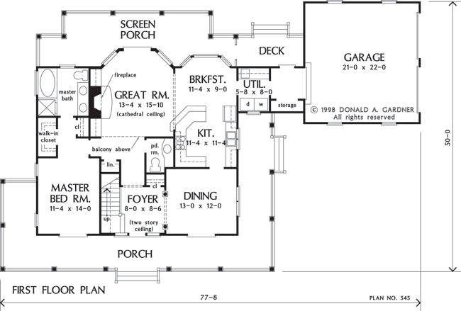 for Two story porch house plans