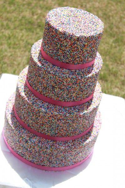 4 tier Sprinkle covered cake