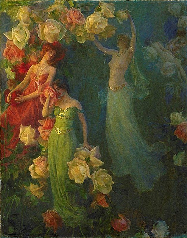 Charles Curran The Perfume of Roses. 1902 г.
