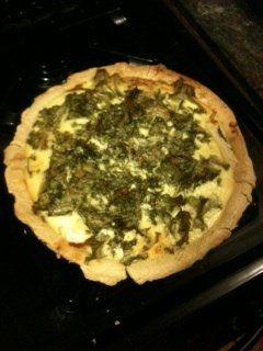 Caramelized Fennel, Goat Cheese & Mustard Green Tart | Recipe