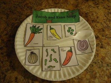 Jacob and Esau Soup Craft