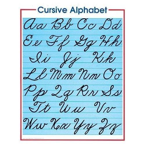 Amazon.com: Cursive Alphabet (Cheap Charts) poster