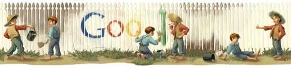 Mark Twain's Birthday by Google