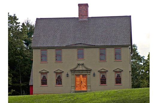 New England Colonial Home Pinterest