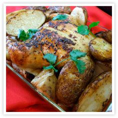 roasted herb chicken amp potatoes