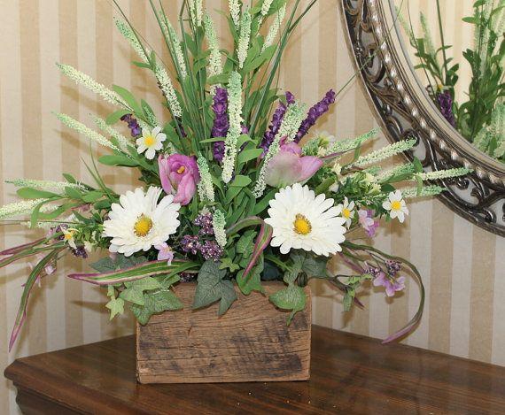 Rustic Barnwood Floral Arrangement Natural