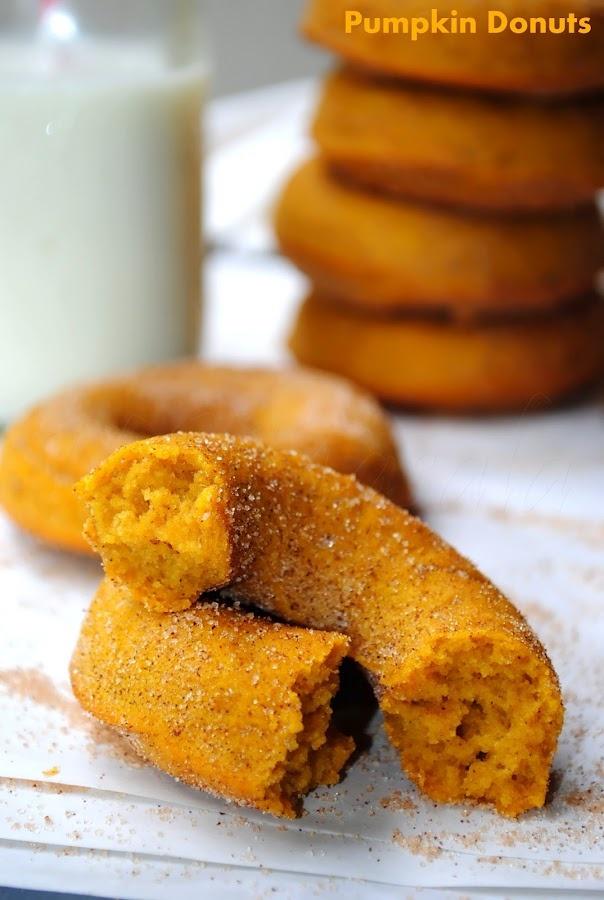 baked pumpkin doughnuts | Breakfast | Pinterest