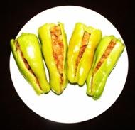 potato stuffed banana peppers