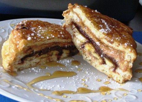 peanut butter nutella banana sandwich | Ummmm.....YUMMY Recipes to tr ...