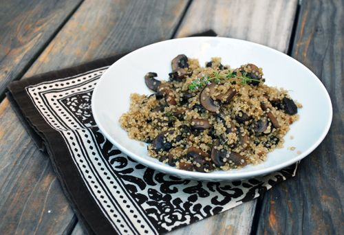 Mushroom & Thyme Quinoa Pilaf - not sure it's worth using the fresh ...