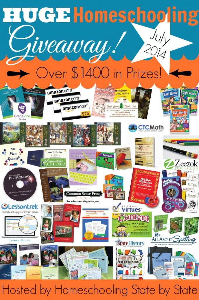 Huge Homeschool Giveaway!