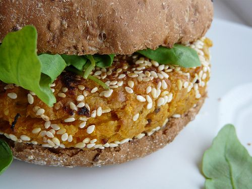 carrot, cumin and chickpea burgers - vegetarian delight!