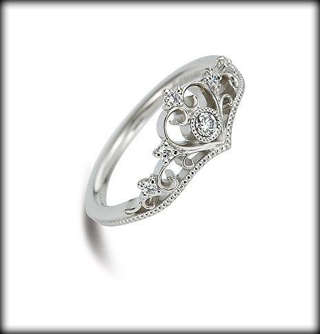 princess tiara disney engagement ring wedding