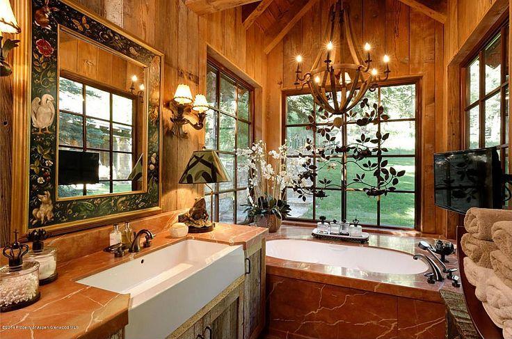 Rustic Mountain Bathroom Bathroom Ideas Pinterest