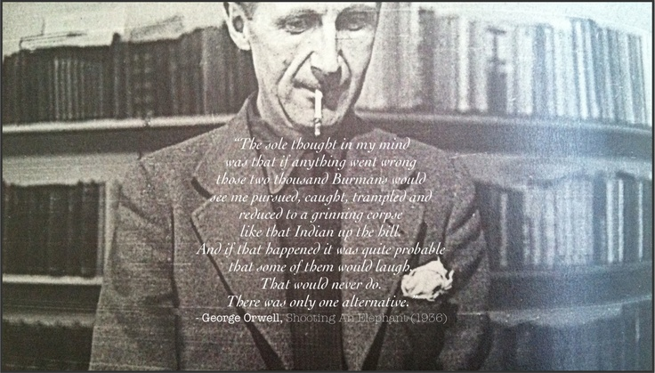 an analysis of george orwells fiction 1984 George orwell made no secret of the fact that his novel 1984 was not really about  the future but about the very time he wrote it in, the bleak.