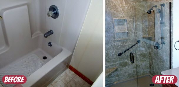 Bathtub Conversion To Walk In Shower Re Bath More Pinterest
