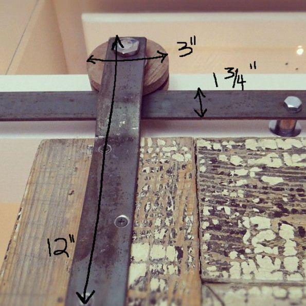 Diy how to create your own barn door track hardware for Design your own door