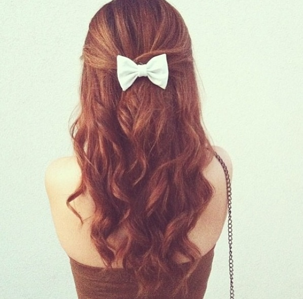 hair bows in curly hair - photo #8