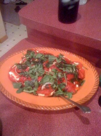 Tomato and Fresh Mozzarella Salad With Arugula & Peppers from Food.com ...