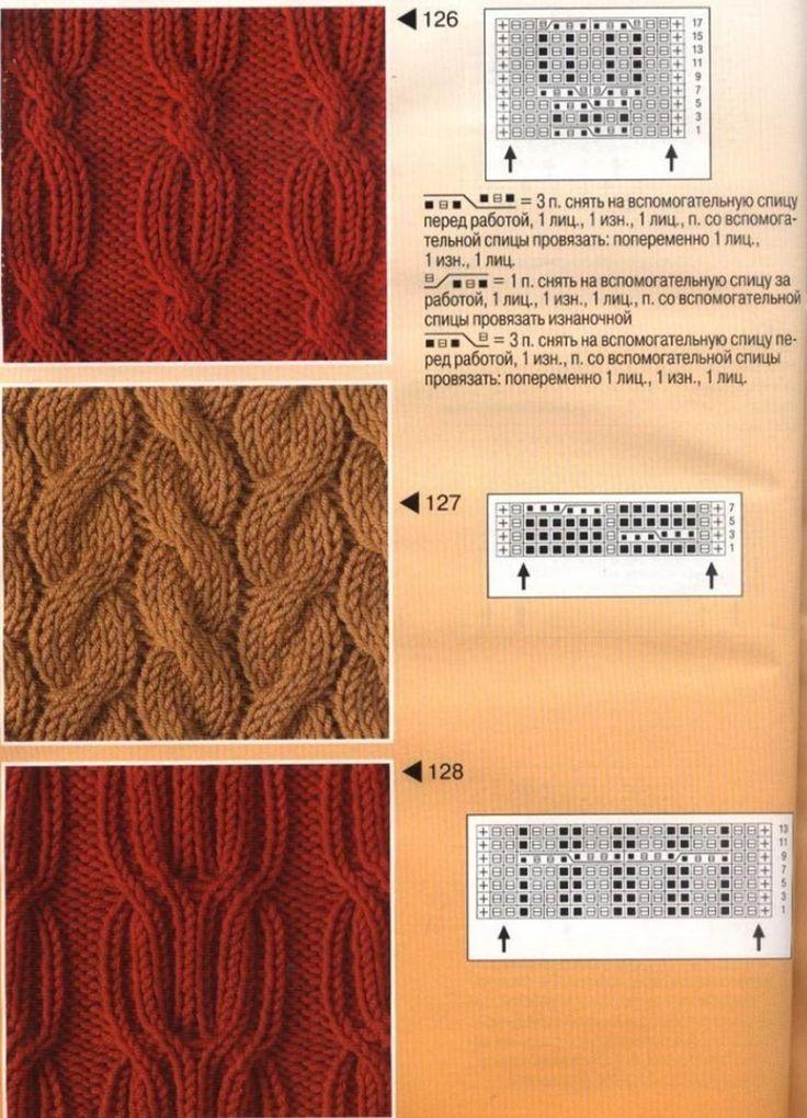 Виды вязания кос и жгутов спицами 59
