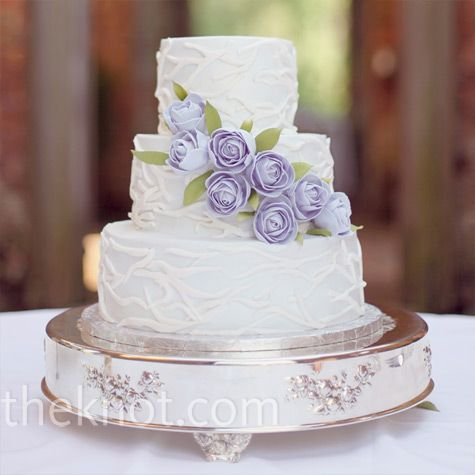 our cake will be similar to this, but want calla lillies and hydrangeas and butterflies for decor. NO FONDANT, neither of us like it at all, except it looks so pretty.