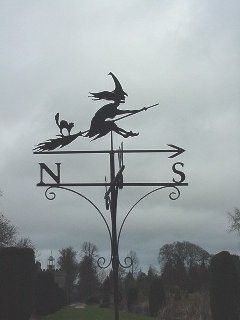 Witch weather vane - Love this!  Need this!!!!