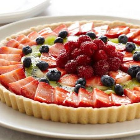 Fresh Fruit Tart is a great way to impress your guest on a nice spring ...