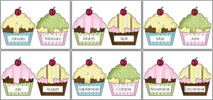 Birthday Chart Cupcakes | Birthdays | Pinterest