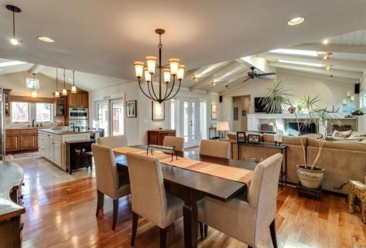 kitchen dining room hearth room combo home decor inspiration