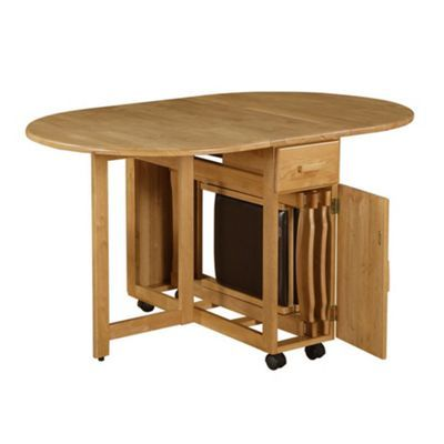 Drop Leaf Table With Folding Chair Storage Dining Tables
