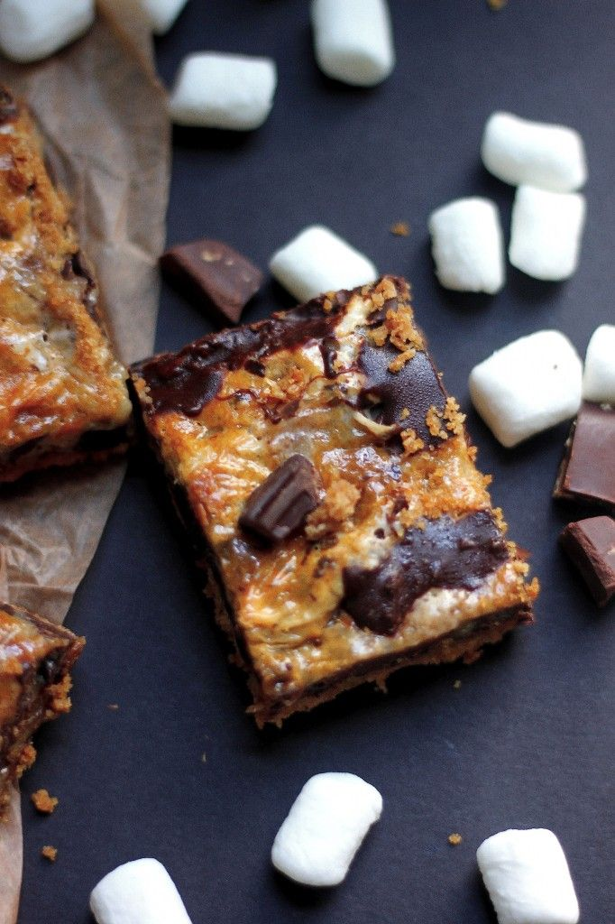 mores Cookie Bars - these delightfully simple cookie bars ...