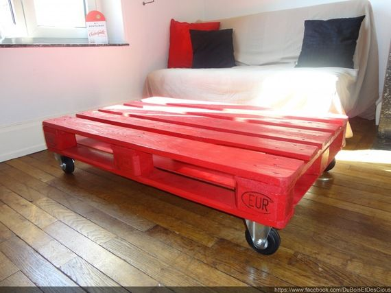 Table Basse Industriel Palette Bois Astuces D Co Pinterest