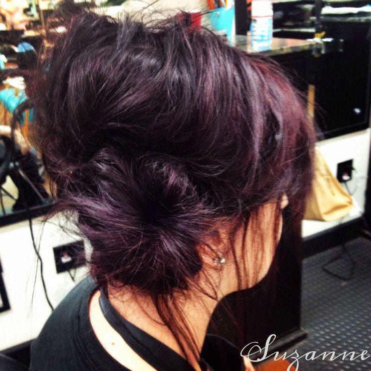 Deep Red Violet Hair Color  Dark Brown Hairs