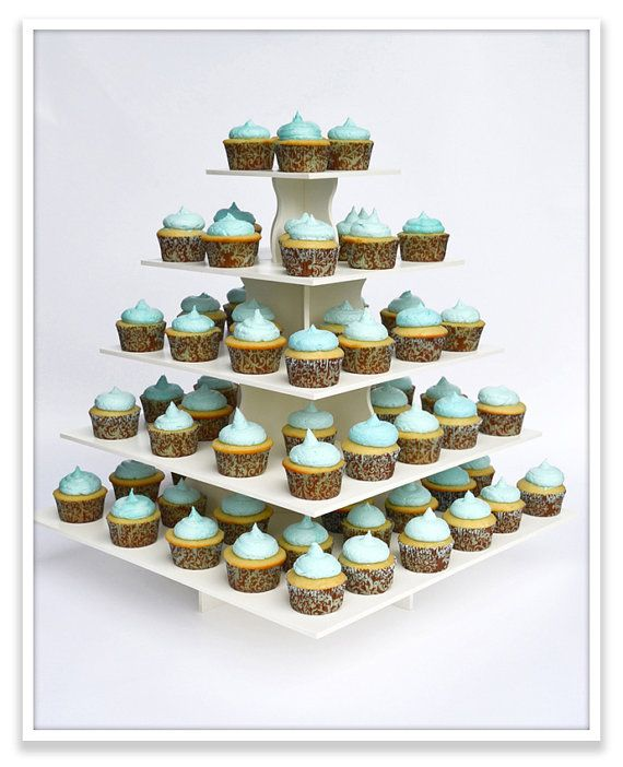 Best Square Cupcake TowerReusable by AllCustomGifts on Etsy, $61.95